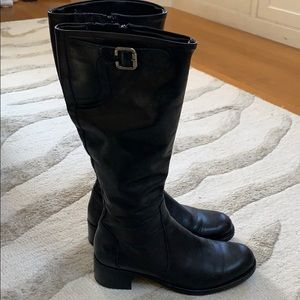 La Canadienne Black Leather Boots Tall 8